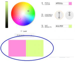 שני צבעים משלימים בשלב התכנוני.