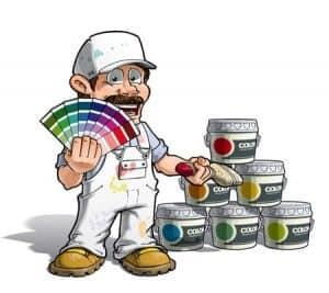בדיקת צבעי לצביעת דירה