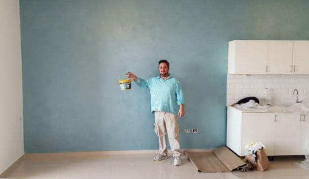 מבריק צביעת דירה במבצע החל מ-590 ₪ סידור הבית חינם! סילבס צבעים YB-41